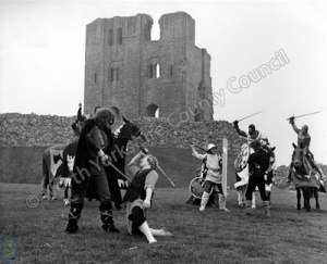 Jousting at Scarborough Castle
